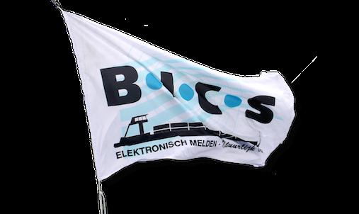 Vlag BICS vrijstaand